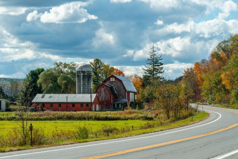 Red Barn Scenic Drive Tioga County New York
