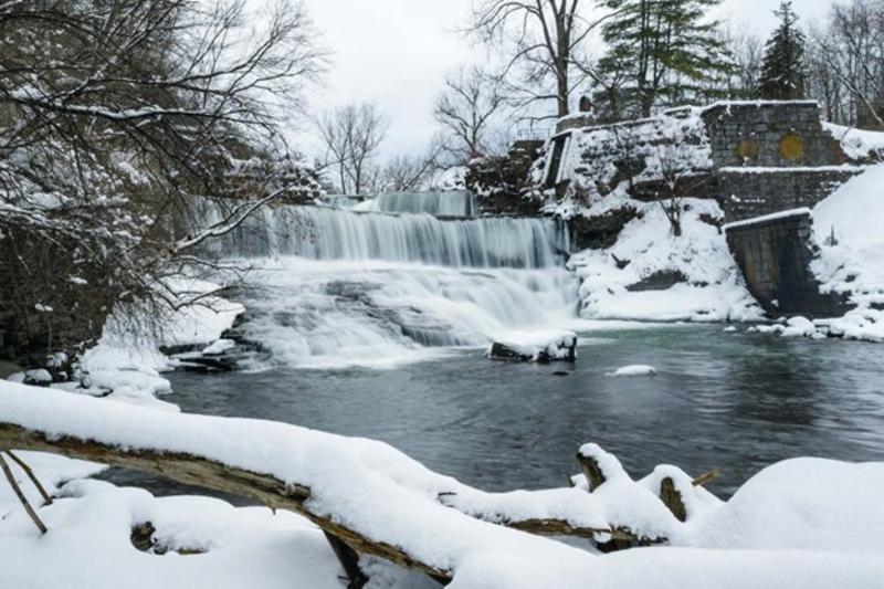 Winter Waterfalls - Keuka Outlet Trail