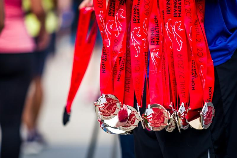 Medals for the Irving Marathon