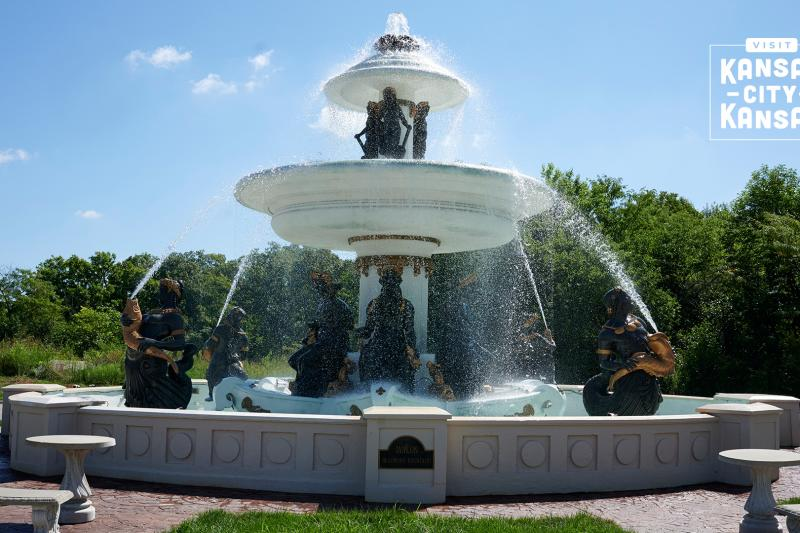 Beaumont Fountain Virtual Background
