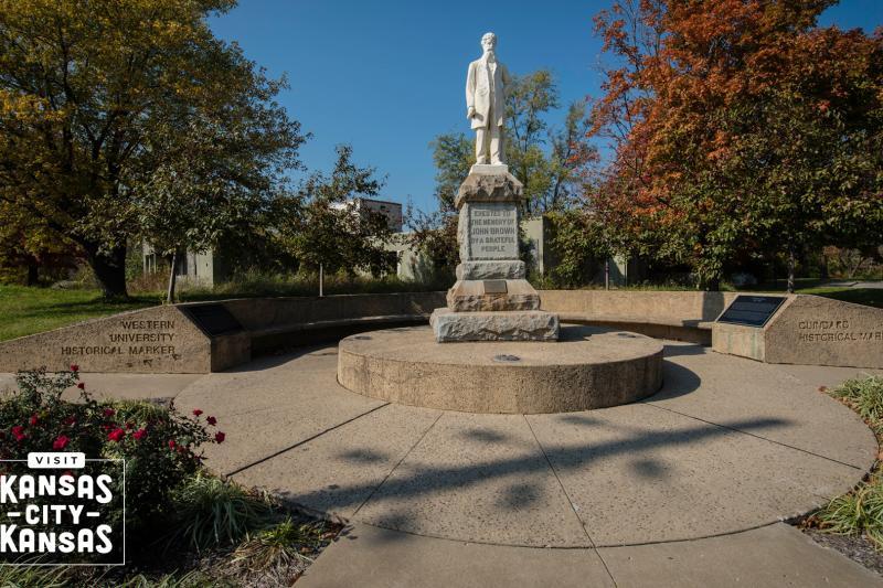 John Brown Statue Virtual Background