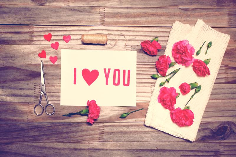 Make a handcrafted Valentine's Day card