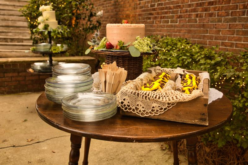 Plates and utensils from Rustic Daisy in Milledgeville, GA