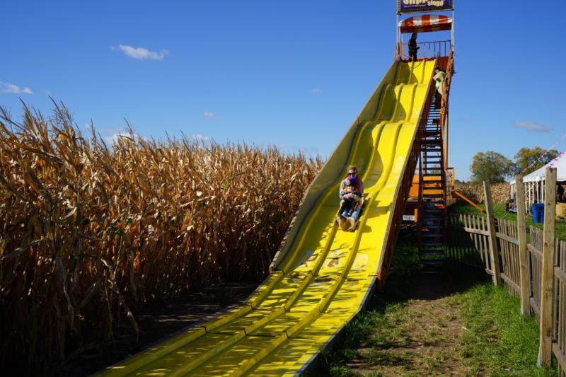 Giant yellow slide