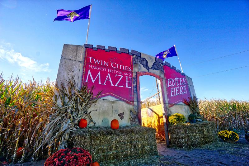 Entrance to the Twin Cities Harvest Festival and Maze