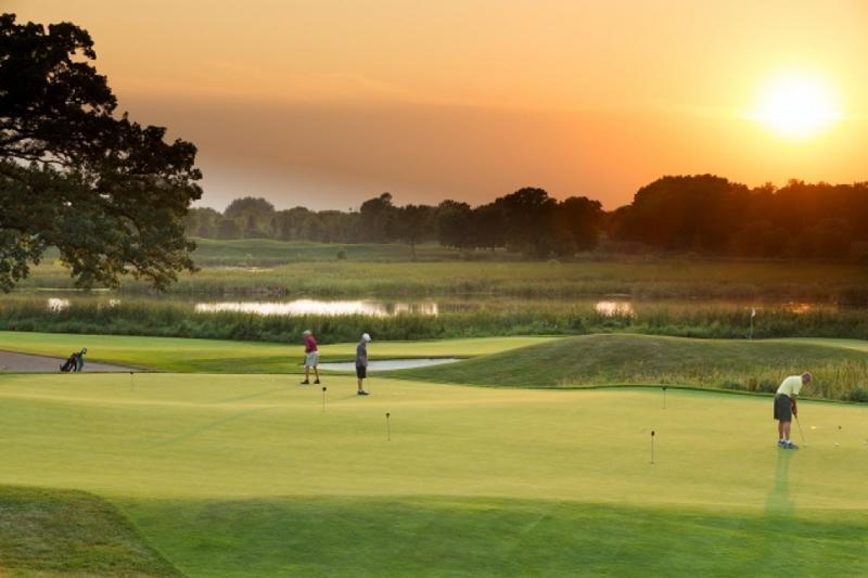 Sunset at Rush Creek Golf Club