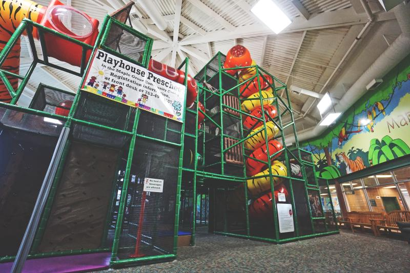 The Maple Maze in the Maple Grove Community Center