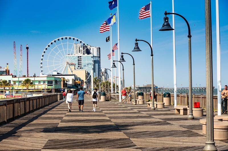 Myrtle Beach Boardwalk and Promenade with Skywheel, Myrtle Beach, SC