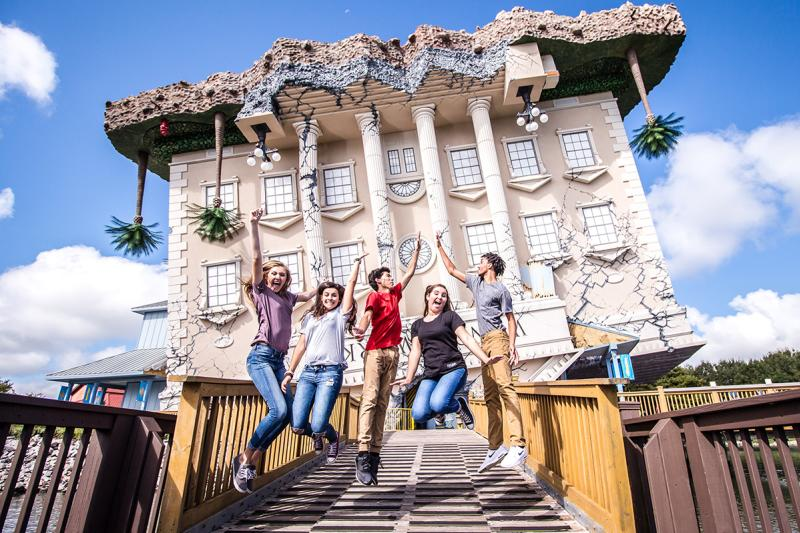 Students high five in front on WonderWorks in Myrtle Beach