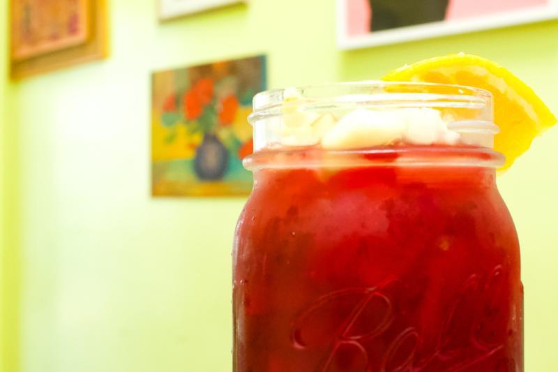 Cholita Linda glass of sangria