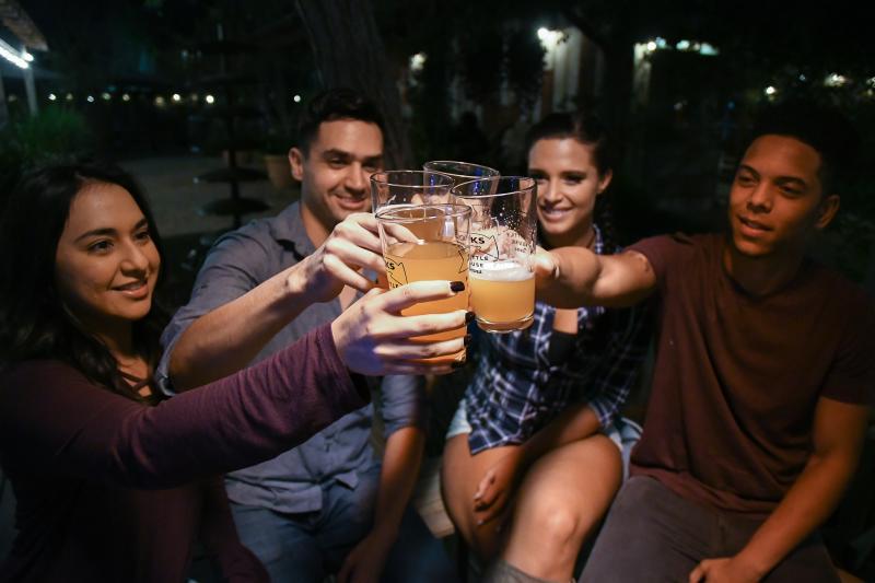 Friends Toasting Beers