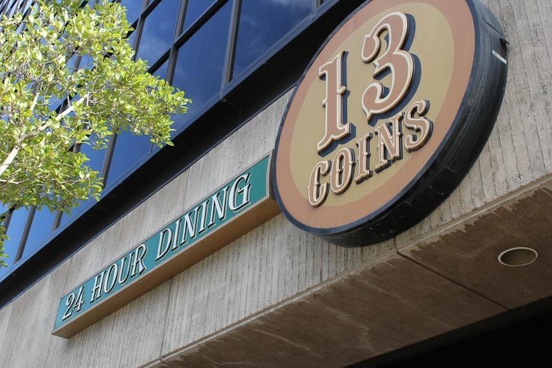 13 Coins Restaurant Sign