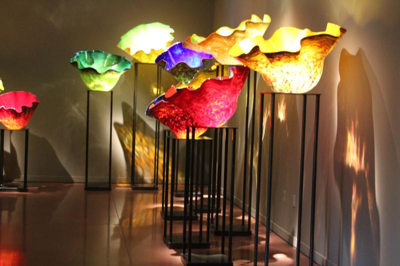 Chihuly Glass Museum flower bowls