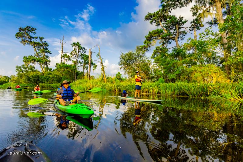 Kayaking, Bayou Cane, Group, Bayou Adventure