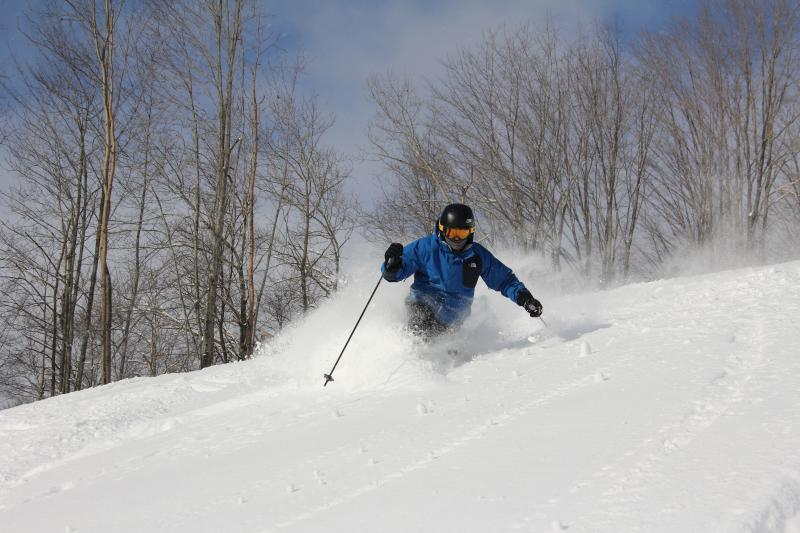 Winter downhill skiing at Crystal Mountain Resort