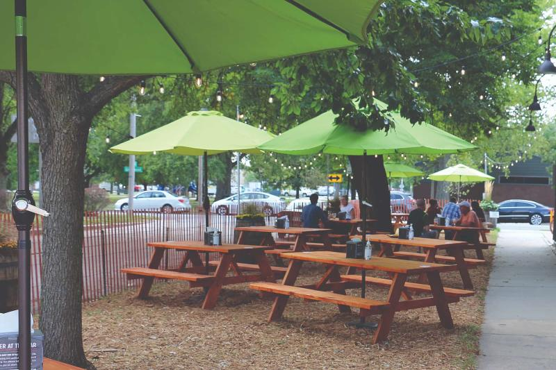 Central Standard Brewing Patio with Picnic Tables
