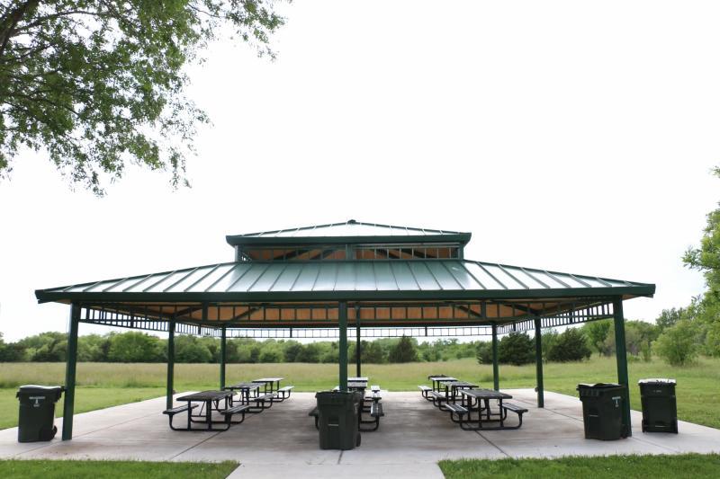 Gazebo and Picnic Tables at Chisholm Creek Park