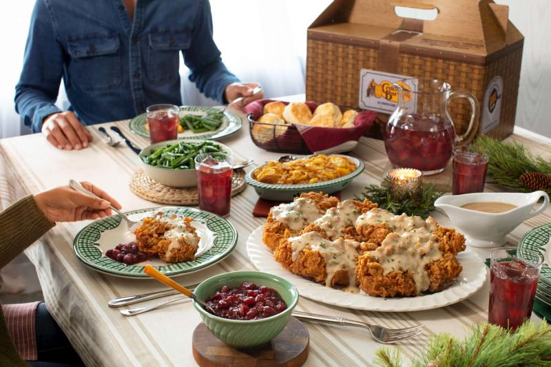 Cracker Barrel Country Fried Turkey Holiday Meal