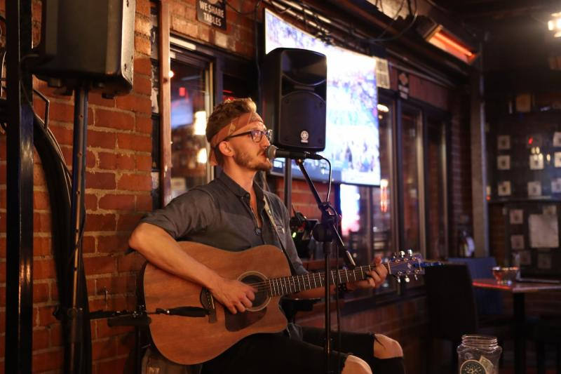 Harrison Steele Performing at Mort's Martini and Cigar Bar