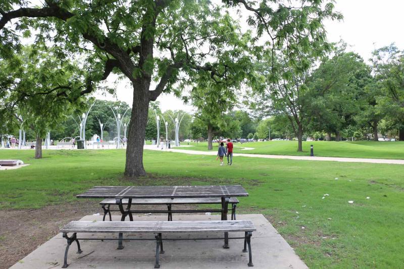 Picnic Tables at Riverside Park