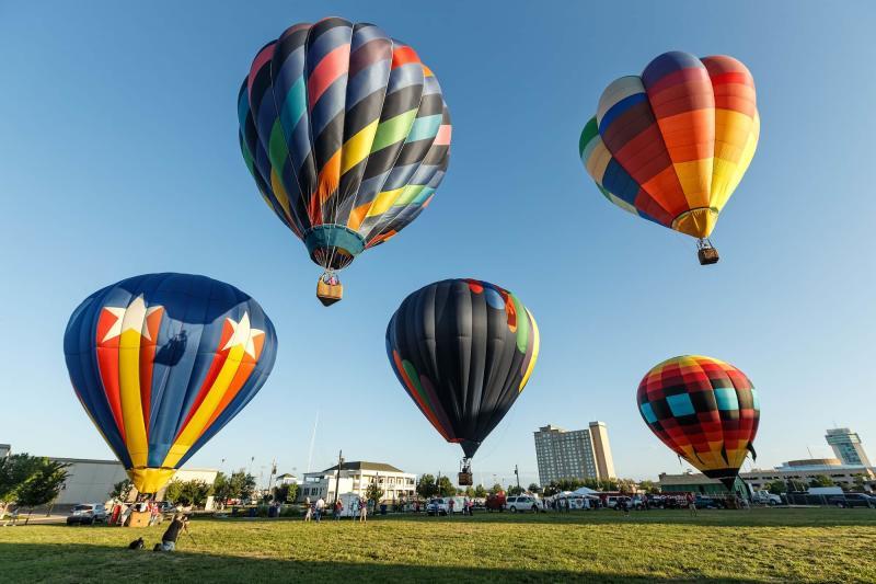 Hot Air Balloons Launch in Wichita