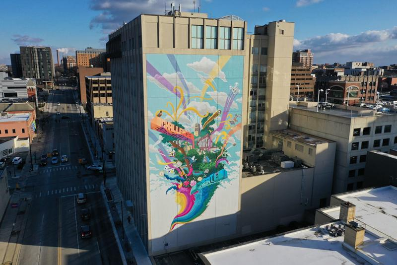 Challenge Everything. Create Anything. Mural
