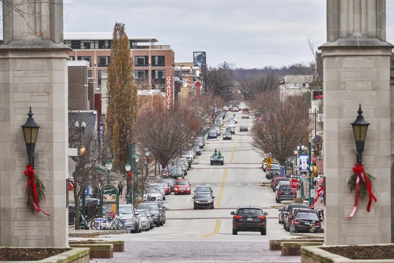 Busy Street In Downtown Bloomington