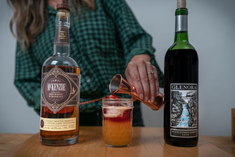 Upstate New York Sour Red Wine Cocktail