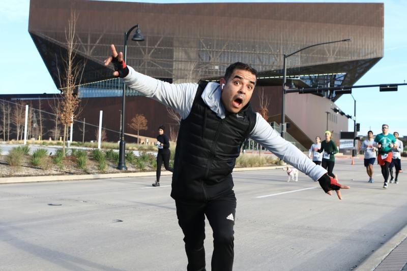 Man posing at the Irving Marathon