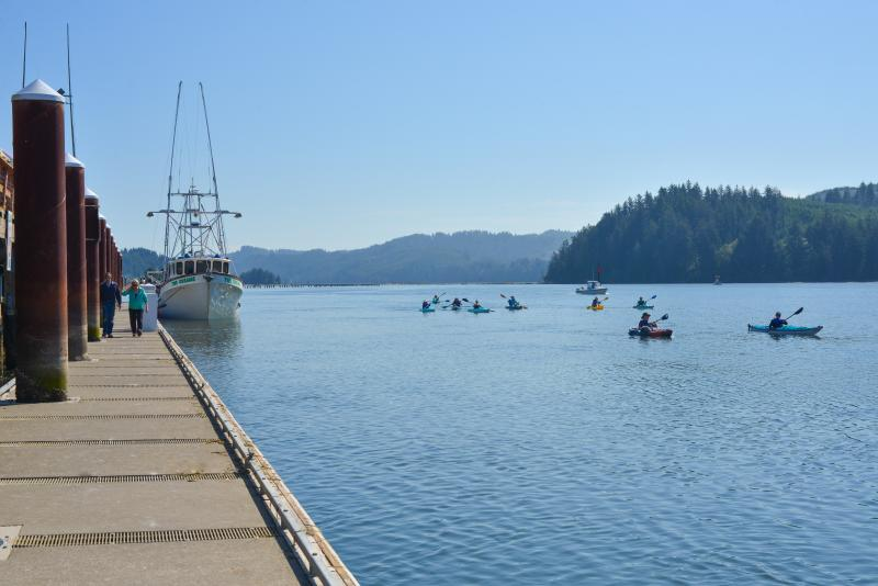 Kayaking the Siuslaw River by Melanie Griffin