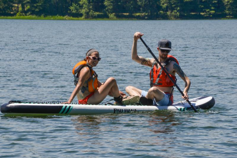 Stand Up Paddle Boarding on Cottage Grove Lake by Melanie Griffin