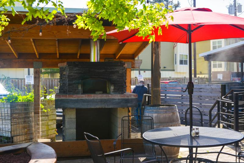 Elk Horn Brewery patio by Melanie Griffin