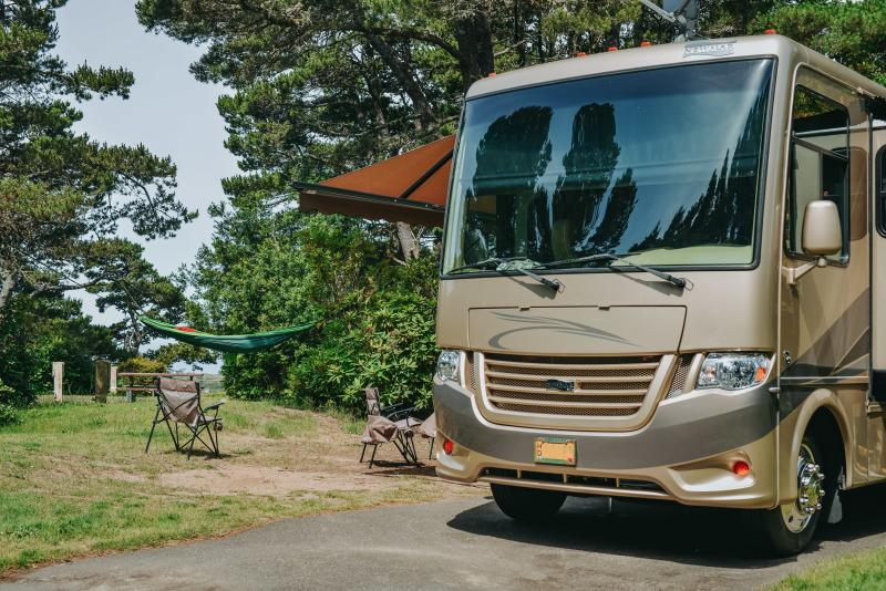 RV camping on the coast by Melanie Griffin