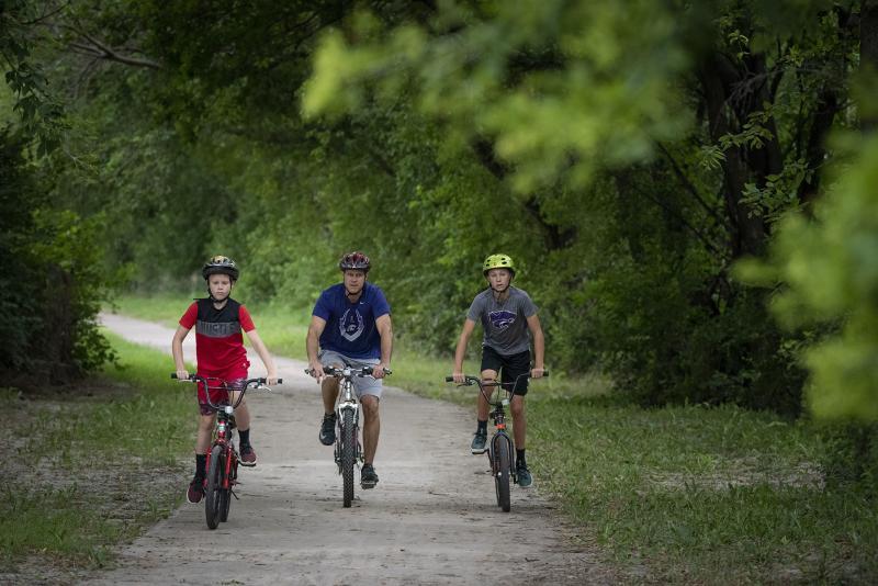 Linear Trail Bike Riding