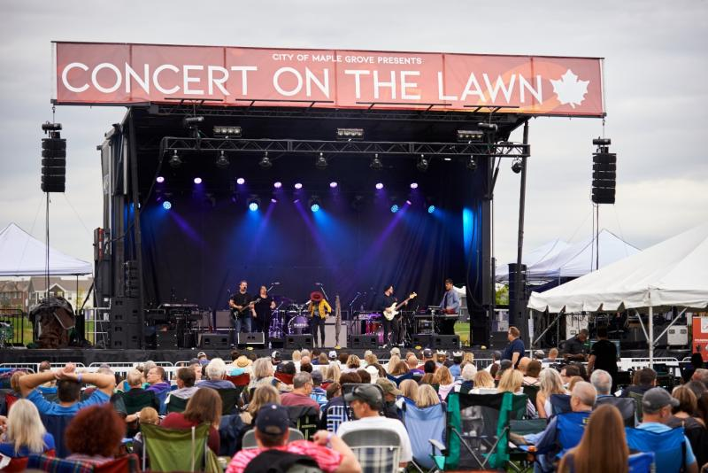 Kat Perkins on stage at Concert on The Lawn