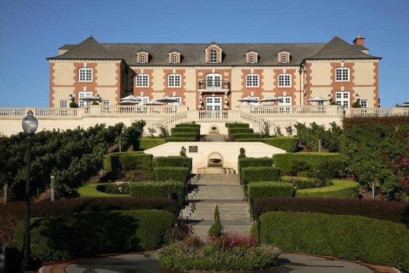 The stately Domaine Carneros is a replica of the Taittinger château in Champagne, France.
