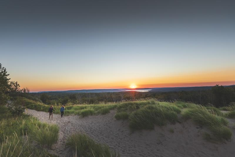 Sunset Hike at Sleeping Bear Dunes