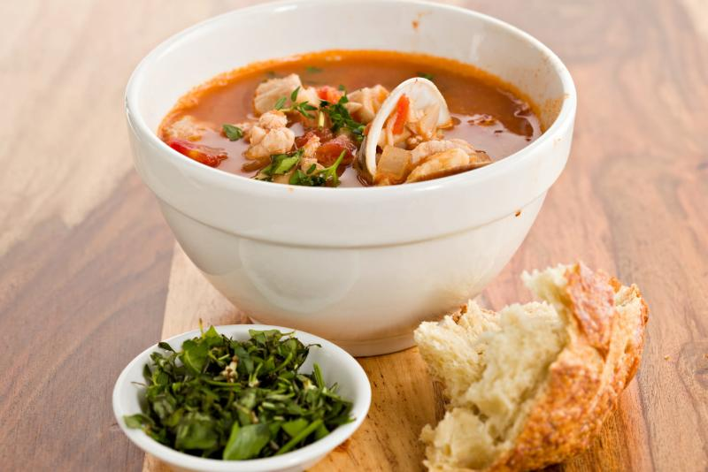 Seafood Gumbo Soup from Bagatelle Bakery
