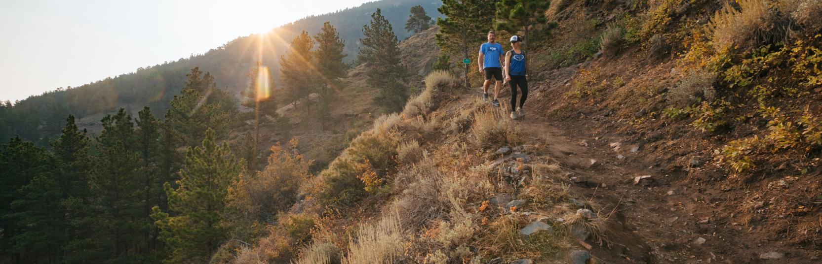 Couple Hiking on Casper Mountain