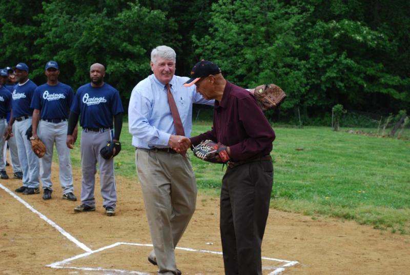 Michael E. Busch at Hot Sox Field