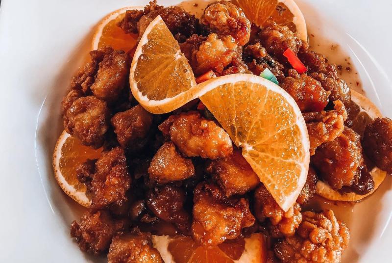 Orange chicken from Siam House