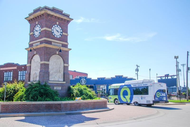 Q-Line Cruising Through Delano at the Clocktower