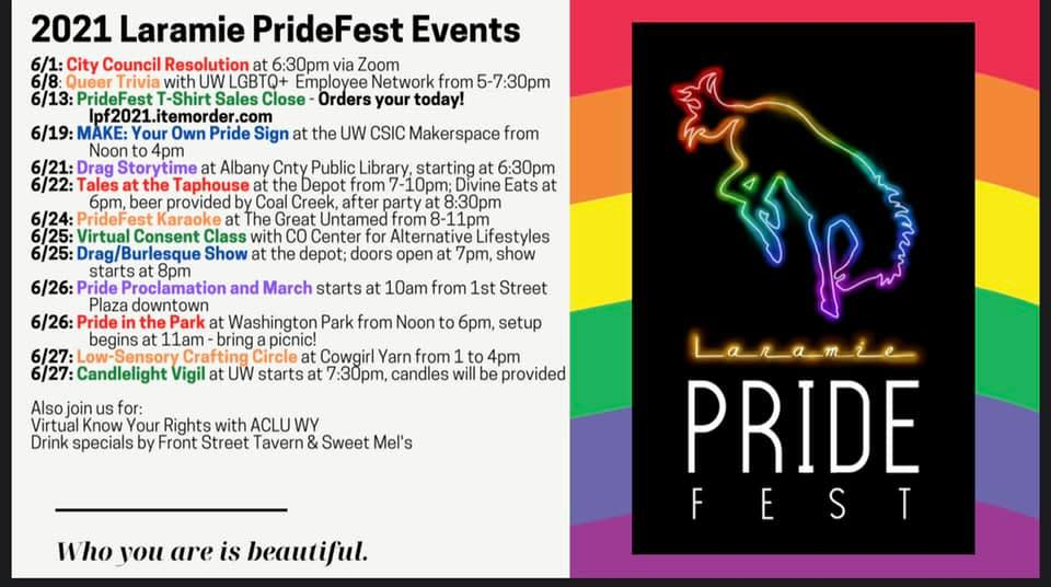 PrideFest 2021 Schedule