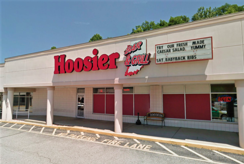 Exterior of the Hoosier Bar & Grill