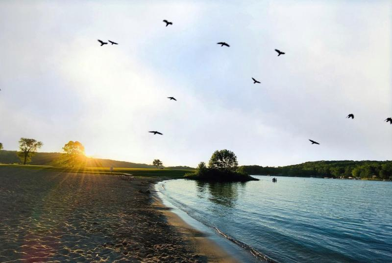 Lake Lemon at sunset