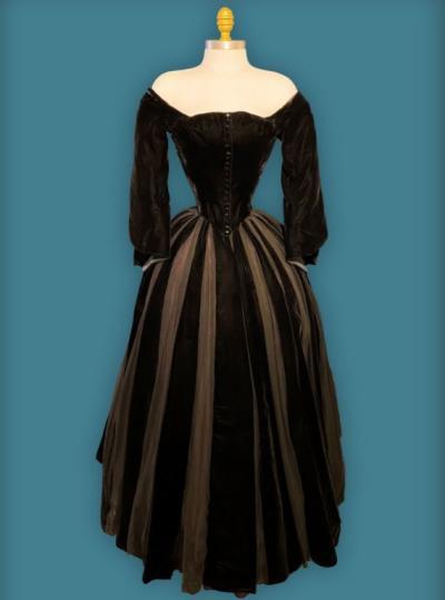 Black velvet dress worn by Ava Gardner in The Great Sinner.