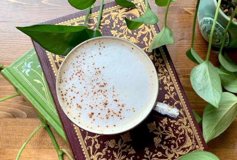 A tea latte from Cup & Kettle Tea Co.