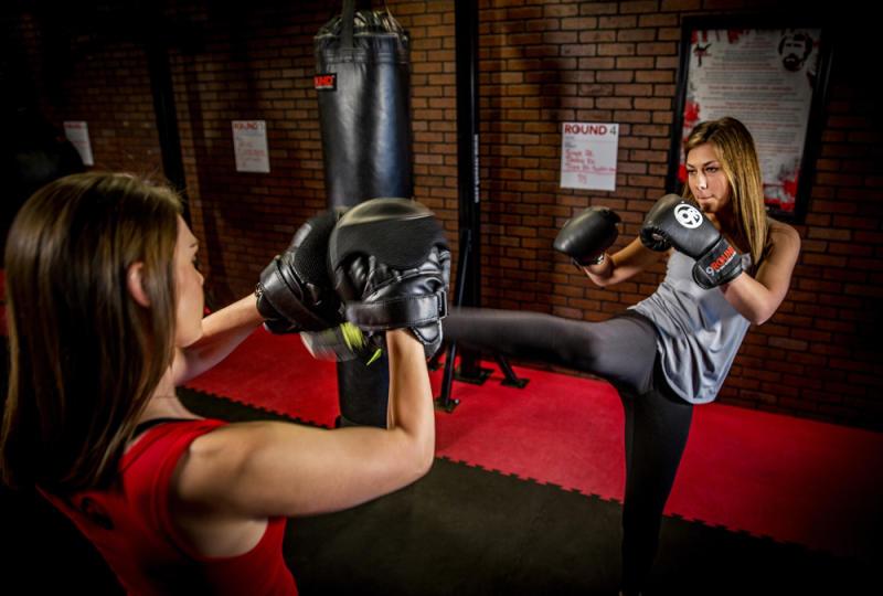 Kickboxing student