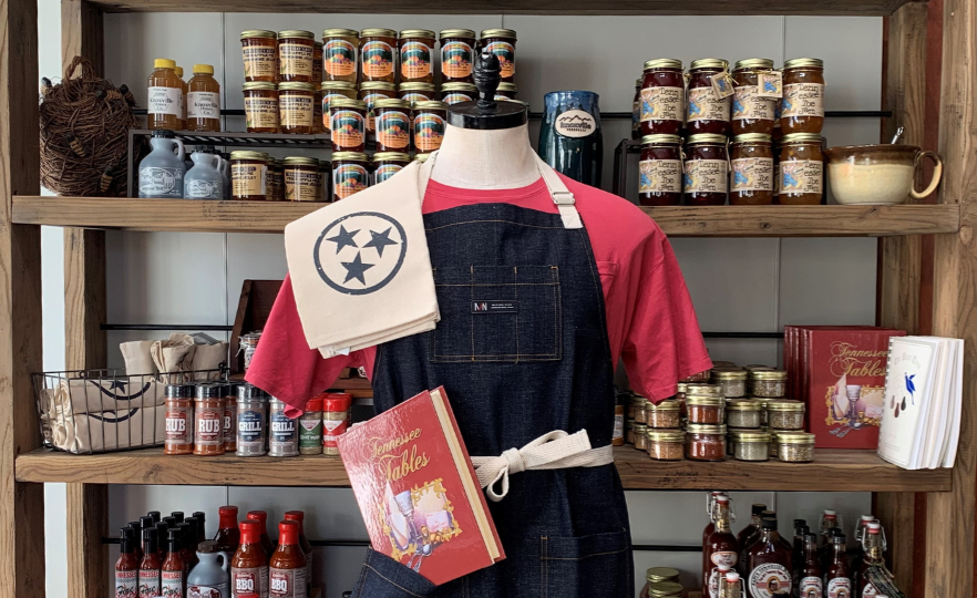 Knoxville Visitors Center goods (apron, local products)