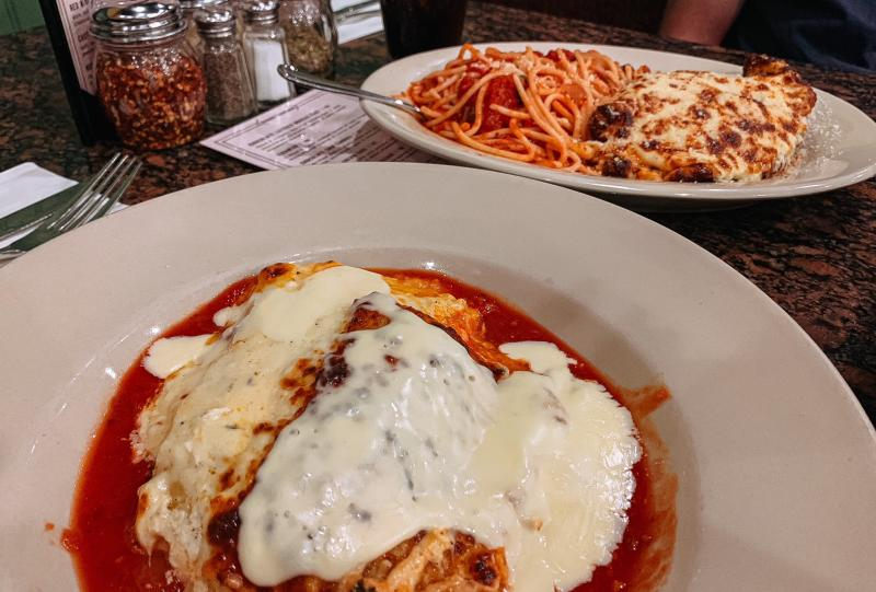 Chicken parmesan and cheese lasagna from DeAngelo's